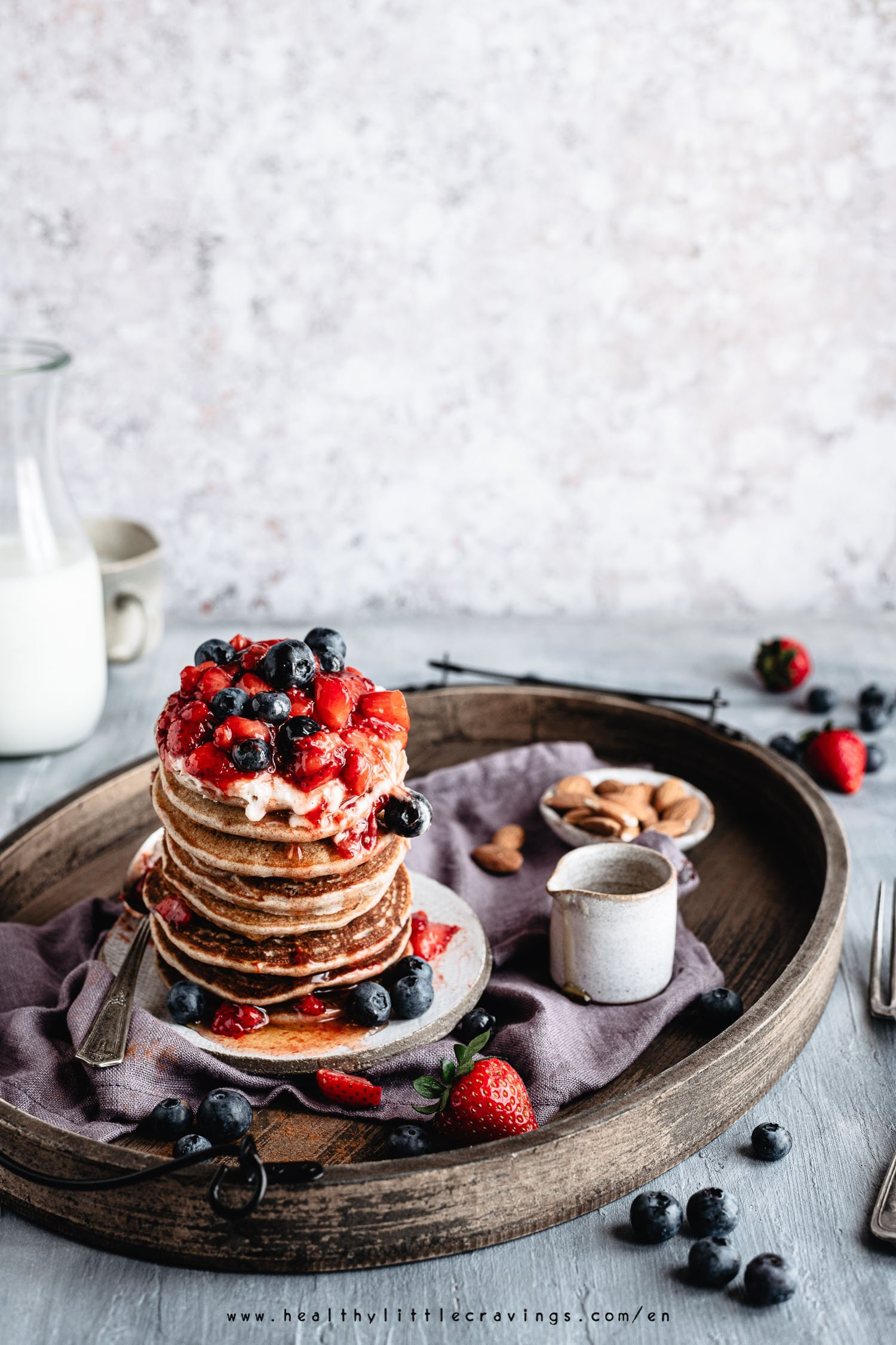 Vegan pancakes with buckwheat flour