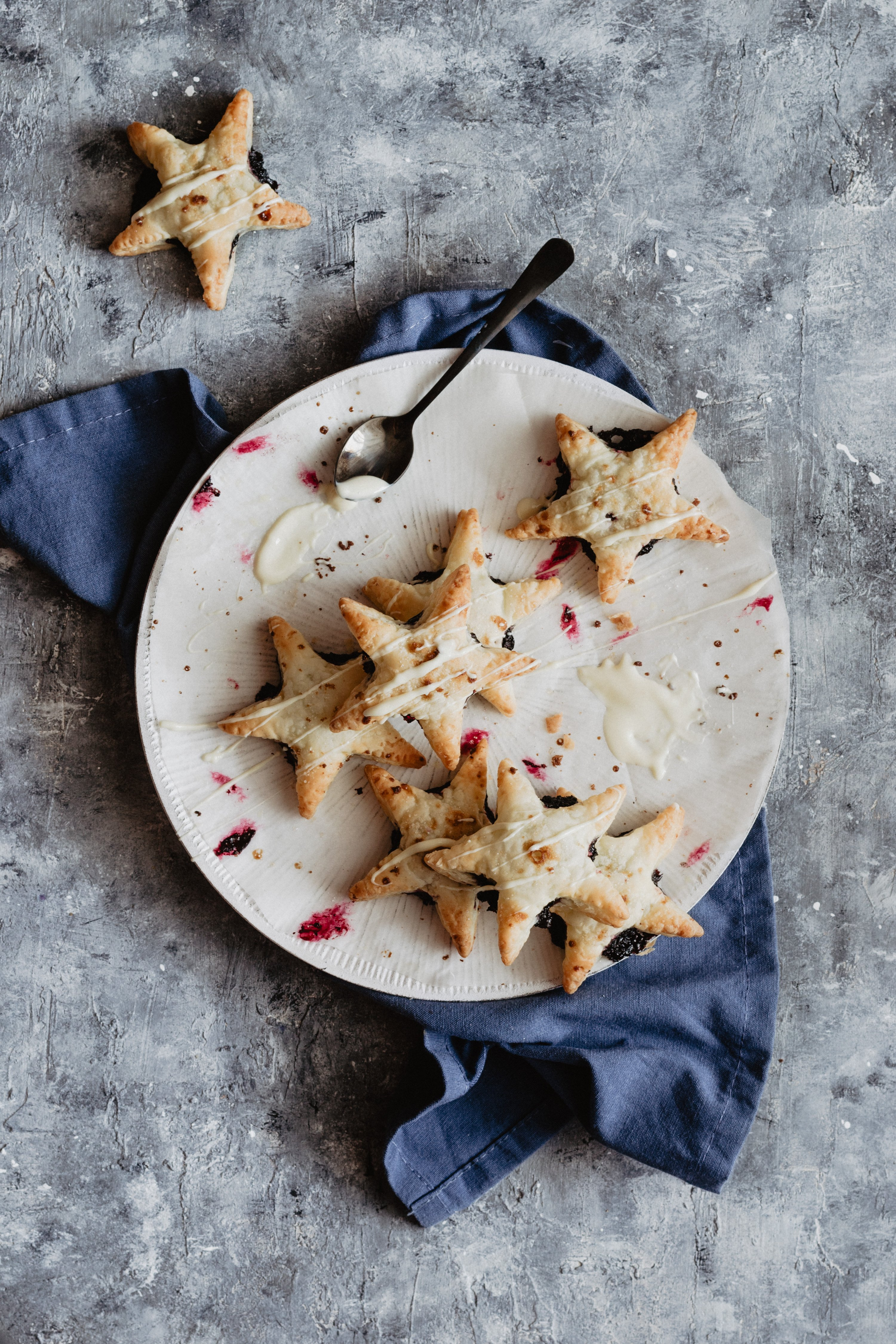 tortine ai mirtilli senza zucchero