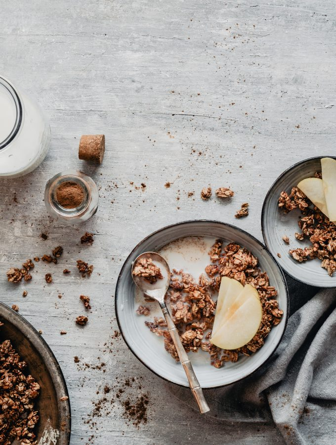healthy cinnamon granola inspired by kardemummabullar