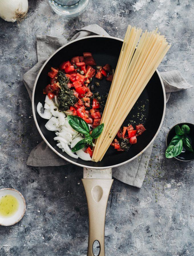 healthy vegan one pot pasta