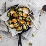 delicious vegan roasted brussels sprouts
