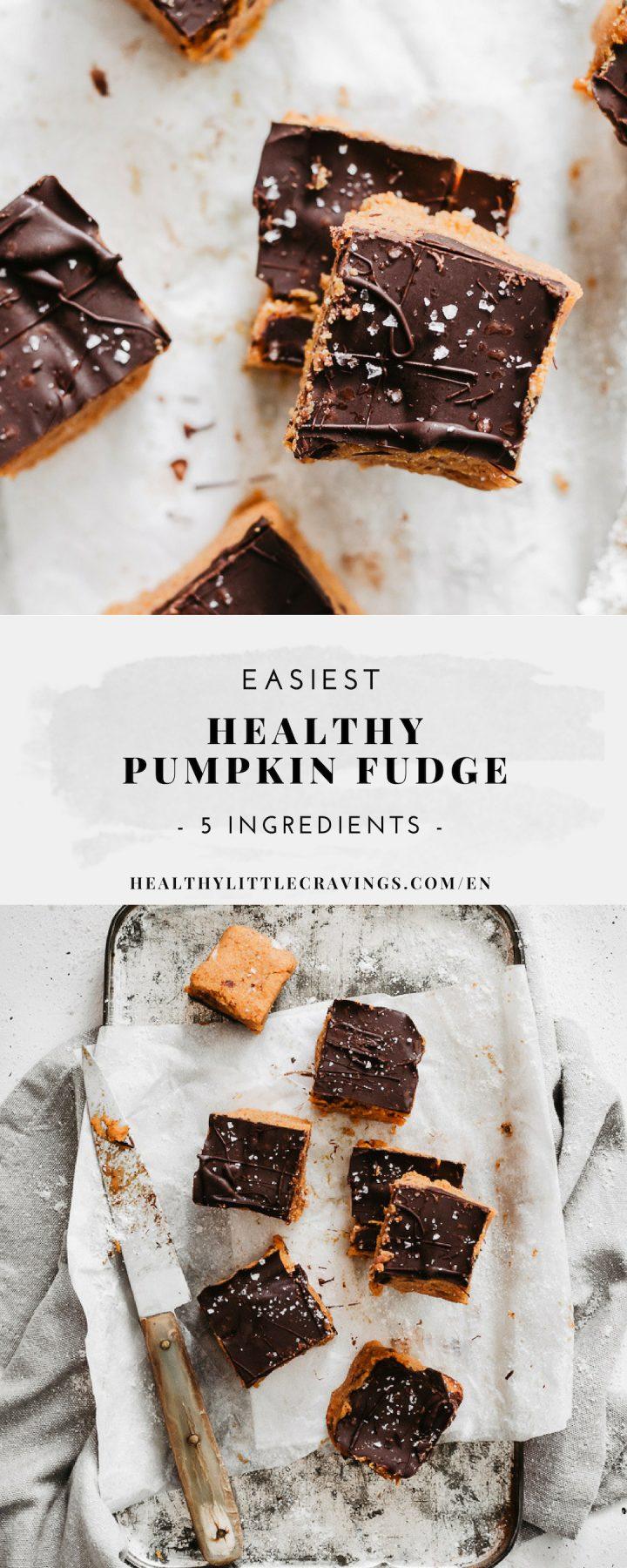 Easiest healthy pumpkin fudge