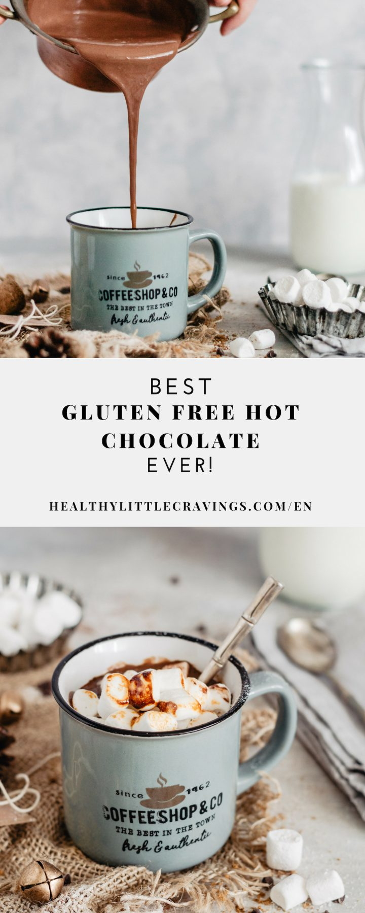 gluten free hot chocolate with milk or plant milk
