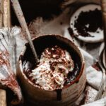 Thick and creamy hot cocoa with whipped cream