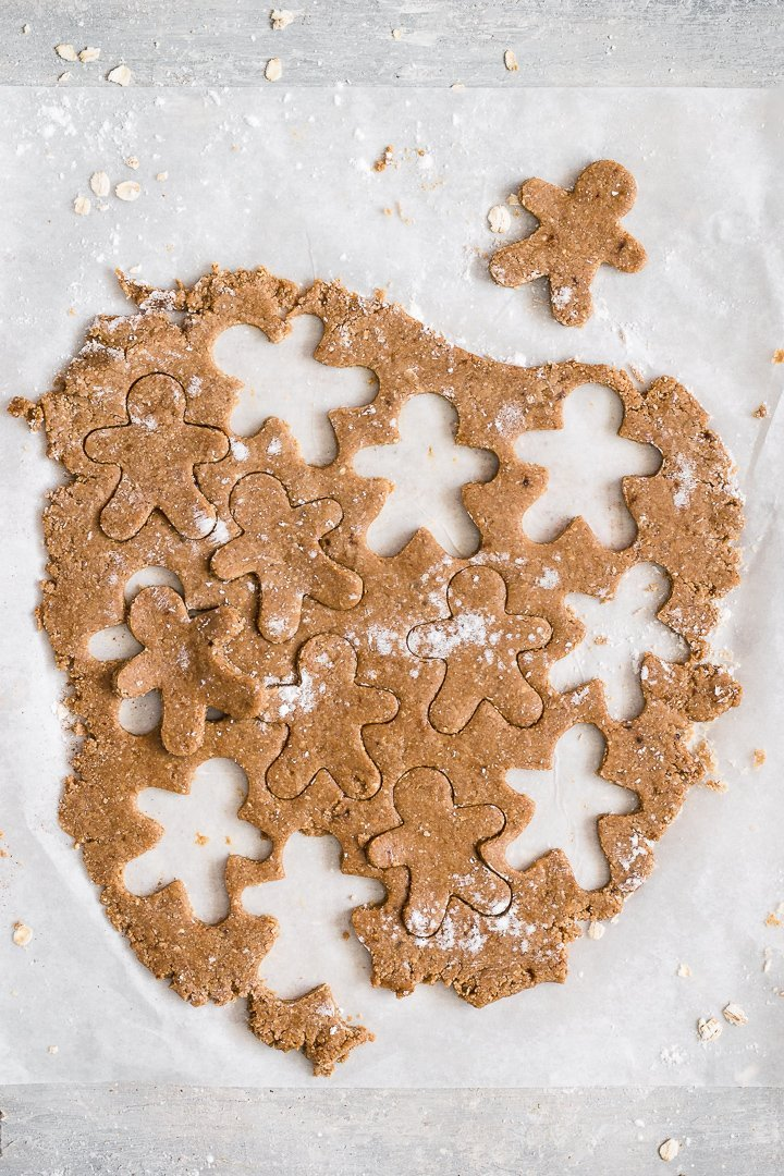 Easy gluten free gingerbread men cookies to make with kids