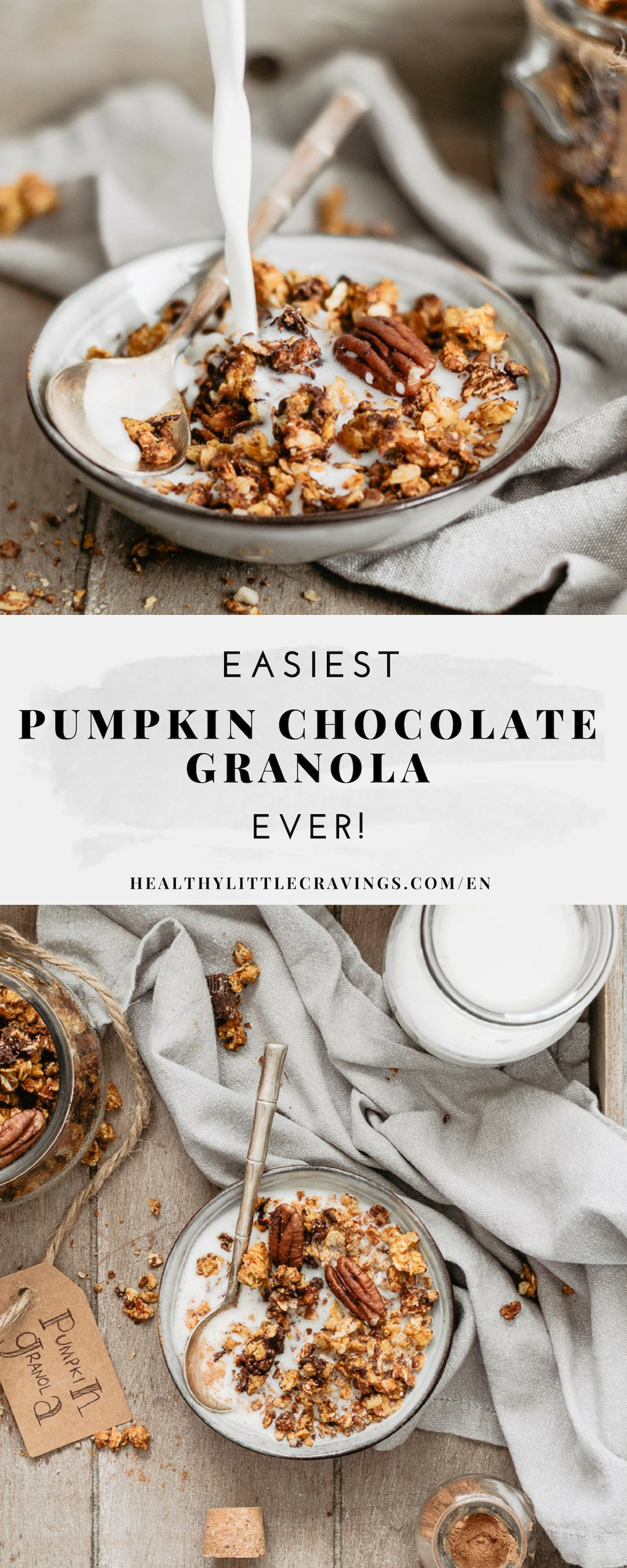 Easy and yummy pumpkin chocolate granola ever
