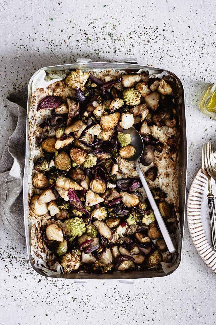 Healthy and easy to make roasted vegetables winter edition