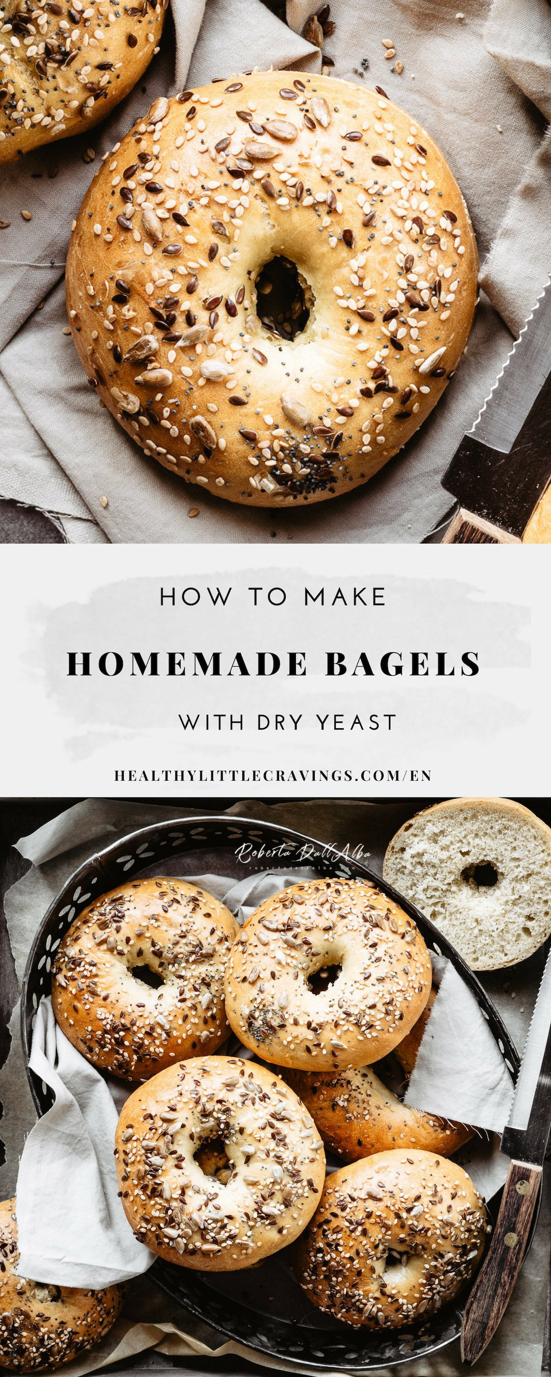 Homemade bagels to pin on Pinterest