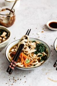 Vegan noodles healthy and quick