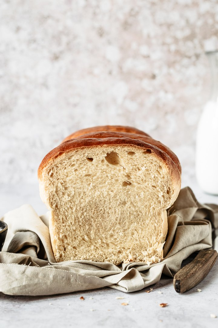 Japanese condensed milk bread recipe - the inside