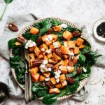 Delicious and easy spinach goat cheese salad