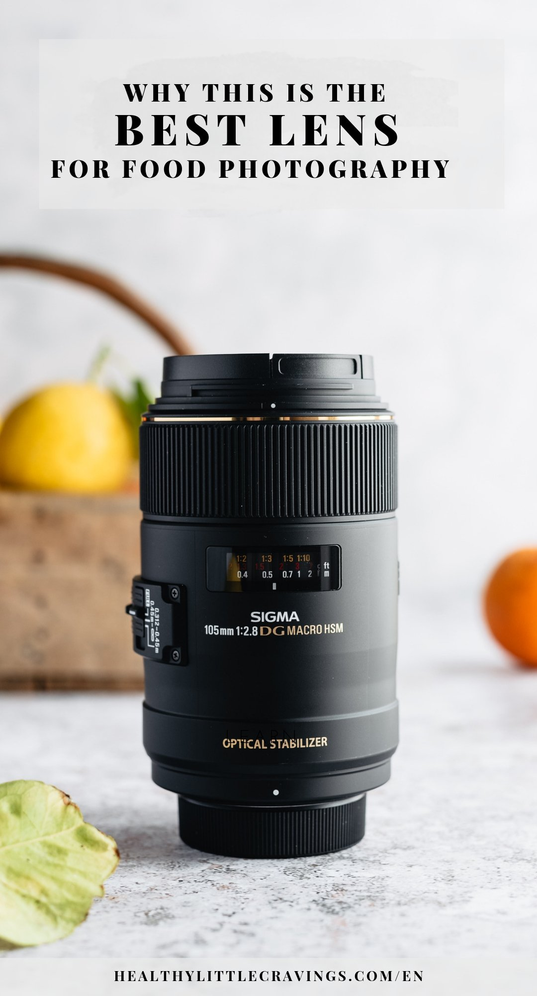 The 105 mm is the best food photography lens