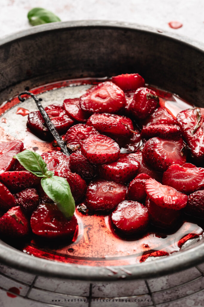 Roasted strawberries no sugar