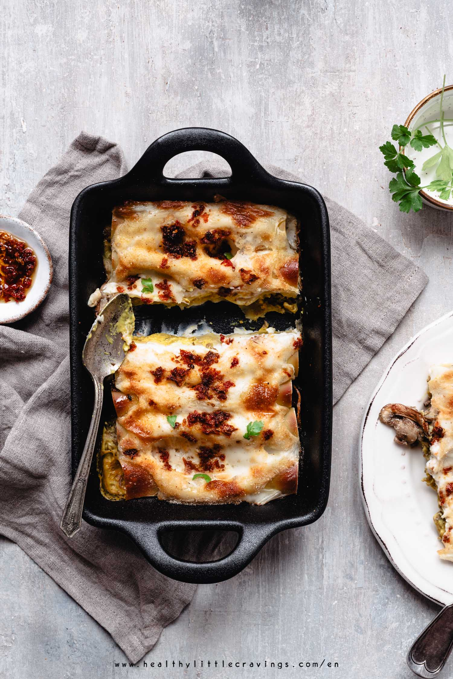 Delicious easy vegetarian cannelloni shells
