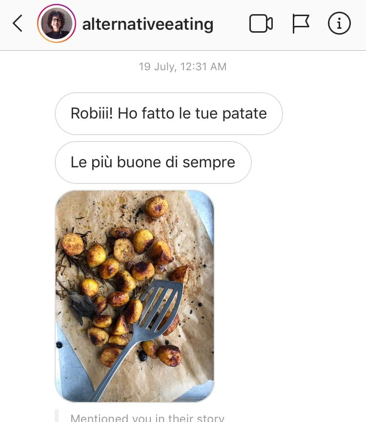 Screenshot explains why these are the best roasted potatoes
