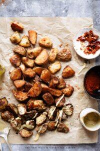 Baking soda potatoes 3 ways