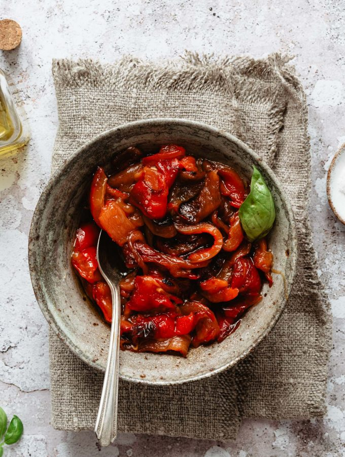 How to roast red peppers into the oven easily