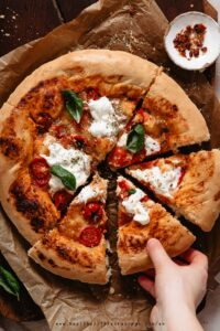 This post teaches you how to make an easy homemade pizza dough