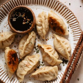 How to cook chicken potstickers with fry-steam-fry method