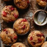 My strawberry muffins recipe with whole wheat flour